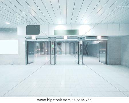 Emergency exit in underground passage