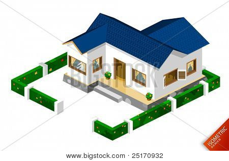 Isometric Rich House