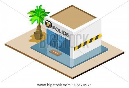 Police Isometric vector