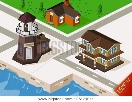 Lighthouse Isometric