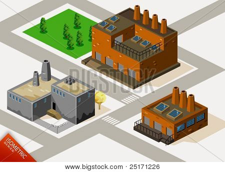 Factory Isometric. Isometric Series. Compose Your Own World Easily with Isometric Works.