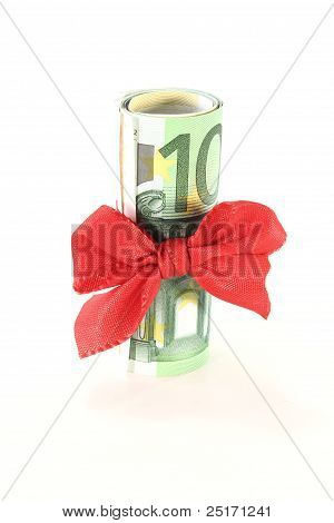 Euro Banknotes With Ribbon