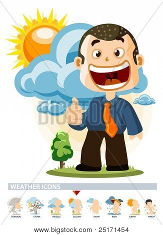 Cloudy. Weather Icon