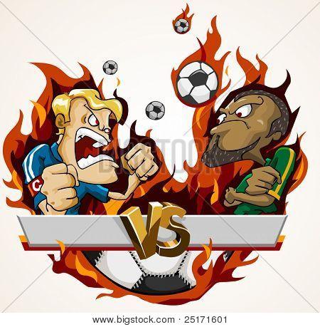 Soccer Battle Match. Detailed vector cartoon series