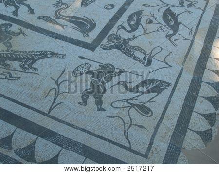 Mosaic Scene Of Jupiters Floor Itallica