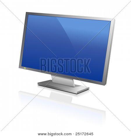 große Computer Flachbildschirm reflektieren