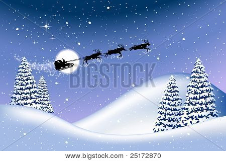 Christmas background, elements editable on different layers