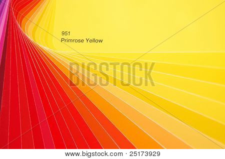 Hue of red and yellow