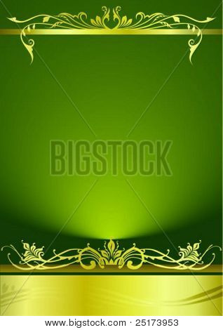 elegant green metallic background