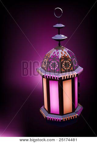 Arabesque Lantern Ideal for Ramadan concept
