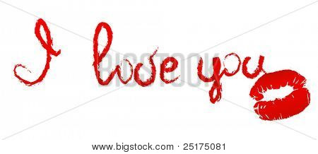 vector card with 'I love You'