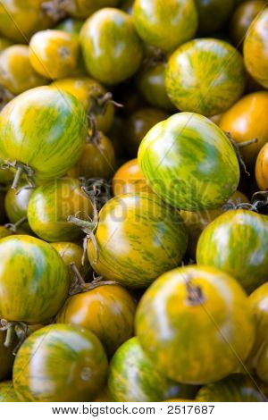 Pile Of Yellow And Green Tomatoes
