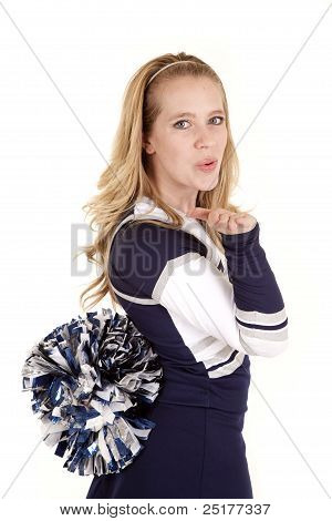 Cheerleader Blow Kiss