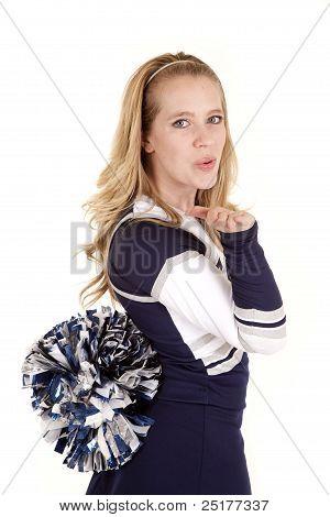 Cheerleader Blow Kiss