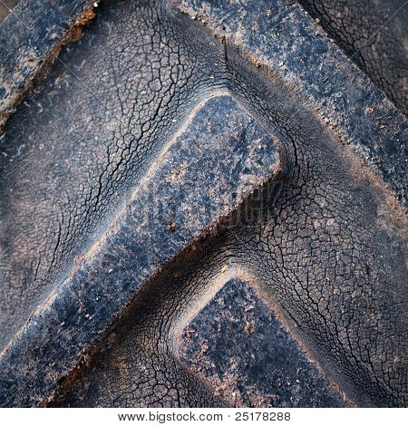Closeup Texture Of Dirty Tractor Tyres