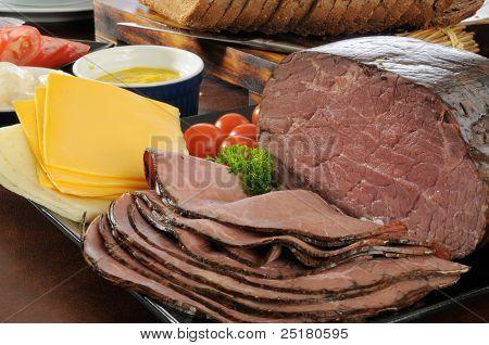 Braten Beef Sandwich Befestigungen
