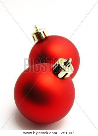 Bolas de Navidad rojo