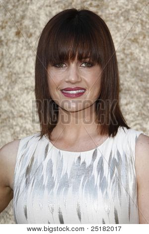 LOS ANGELES - JUNE 16: Carla Gugino at the premiere of 'Entourage' held at Paramount Studios on June 16, 2010 in Los Angeles, California