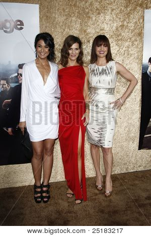LOS ANGELES - JUNE 16: Emmanuelle Chriqui, Perrey Reeves, Constance Zimmer at the premiere of 'Entourage' held at Paramount Studios on June 16, 2010 in Los Angeles, California