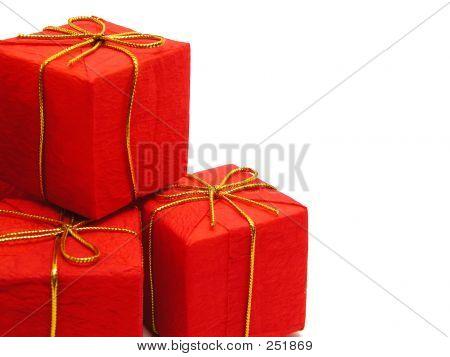 Presentes de Natal vermelho