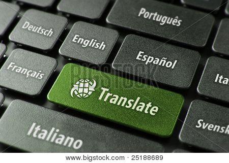 Concepto de servicio de traducción en línea