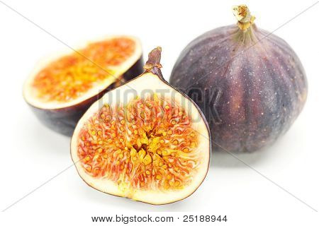 Big Juicy Figs Isolated On White