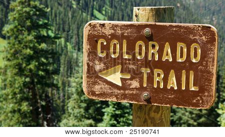 Signo de Colorado Trail