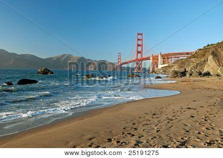The Golden Gate Bridge In San Francisco Sunset