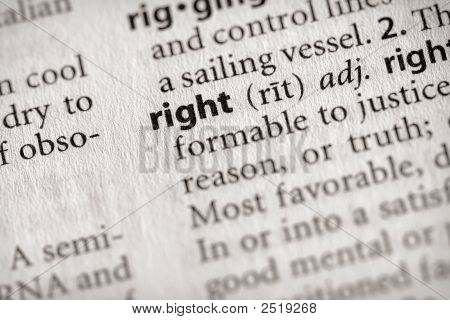 Dictionary Series - Philosophy: Right