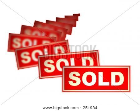 Real Estate Sold Sign Cascade