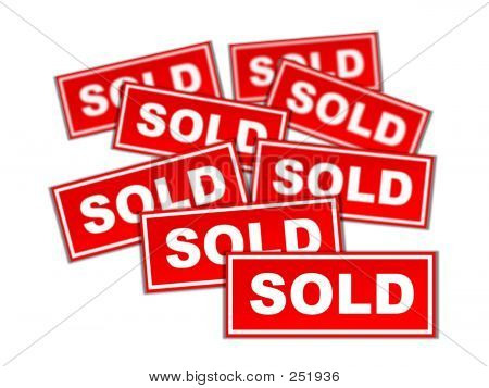 Real Estate Sold Sign Gallore