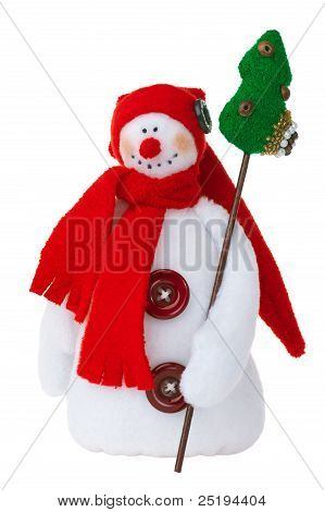 Smiling Snowman Toy