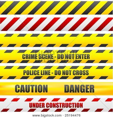 Vorsicht-Linien