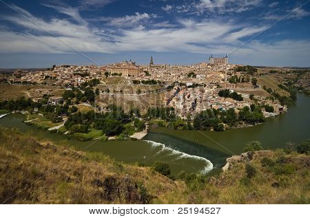 Panoramic view of Toledo