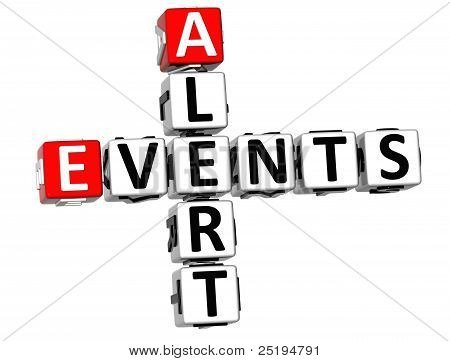 3D Events Alert Crossword