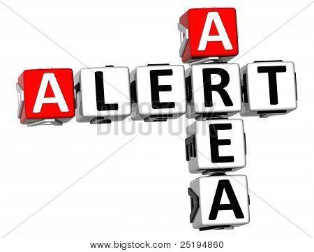 3D Alert Area Crossword