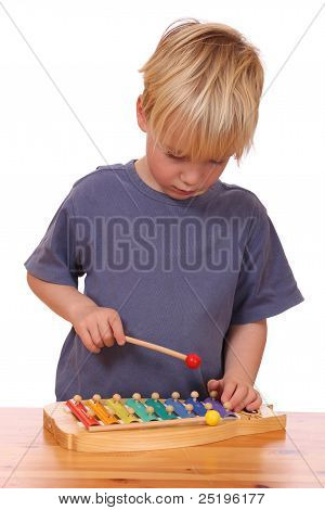 Boy Plays Xylophone