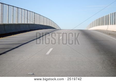 Chain Link Fence And Bridge