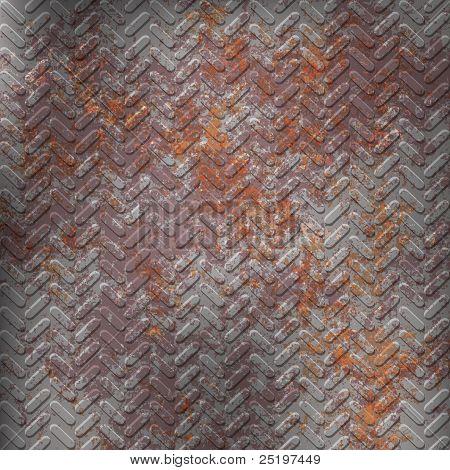 Textura de metal oxidado gris