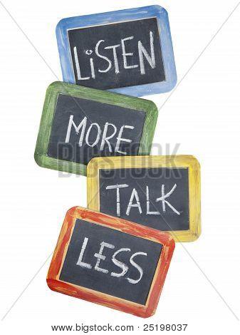 Escuchar más, hablar menos