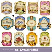 image of crown jewels  - vector set - JPG
