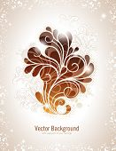 stock photo of swirly  - elegant swirly vector background in warm colors - JPG