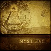 image of all seeing eye  - vector mystery background - JPG