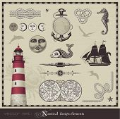 picture of lighthouse  - vector set - JPG