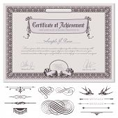romantic certificate or coupon template with detailed border, drapery, guilloche background and addi