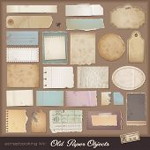 stock photo of ripped  - digital scrapbooking kit - JPG