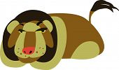 image of zoo animals  - vector lion design - JPG
