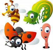 stock photo of caterpillar cartoon  - vector animal set 47 - JPG