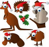 vector christmas animals