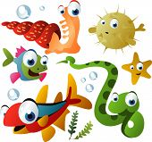 vector sea animals